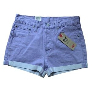 NWT! LEVIS 501 Mid Rise Button Fly Roll Cuff Short